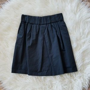 Banana Republic Navy Pleated Elastic Waist Skirt